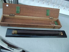 VINTAGE WOODEN NAUTICAL ROLLING RULER IN WOODEN BOX