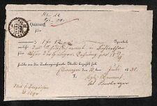 histor. Quittung 1830  Ellwangen #H133