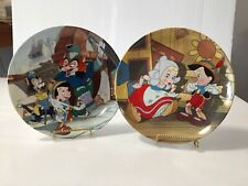 Disney Pinocchio I've Got No Strings and Its An Actor Life For Me plate Coa/Mib
