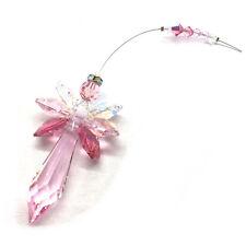 Pink Guardian Angel Swarovski Element Hanging Crystal Suncatcher & Gift Bag