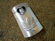 """ELECTRONIC GAS CIGARETTE LIGHTER EMBOSSED WITH A """"LEAF"""" !! GOOD SPARK"""