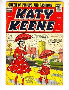 Katy Keene 35 VGF (5.0) 7/57 Very Funny stuff! Archie Comics! Woggin!