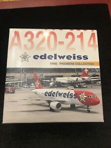 **Rare ** Airbus A320-214 EDELWEISS , 2001 HB-IHY Dragon Wings 1:400, 55302