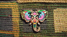 ZD Inspired Sugar Skull Ganesh Elephant Spirit Animal Lapel Hat Pin