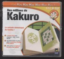 NEUF JEU PC KAKURO la variante du SUDOKU NOMBRE ILLIMITE DE GRILLES EN 3 NIVEAUX