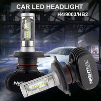 2 x H4 9003 HB2 COB LED Headlight 6500K 8000LM  Bulbs for Hi/ Lo Beam Power