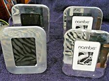 """Lot of 4 NAMBE Polished Metal Desk Frames ~ for 3.5x5""""  ~  Models 3200 & 3203"""