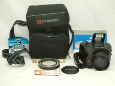 Chinon 35mm Genesis III Macro Auto Zoom Lens Black LCD Panel Photo Camera