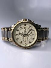 FOSSIL CH2510 WATCH MEN'S CHRONOGRAPH CHAMPAGNE DIAL SPORTS STEEL BRACELET