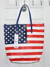 Lacoste Concept Flag America USA Tote Bag Red White Blue Stars Stripes NF0361FL