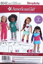 """18"""" AMERICAN GIRL DOLL CLOTHES Simplicity Sewing Pattern 8042 NEW Uncut"""