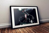 Michael Jordan Chicago Bulls NBA Autographed Poster Print. Look Great Framed