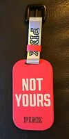 VICTORIA'S SECRET LOVE PINK NOT YOUR LUGGAGE TAG IN BRIGHT PINK COLOR NEW
