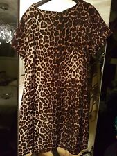 leopard print  smock dress  Size 10  silky material