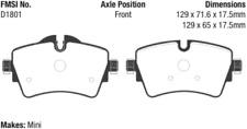 EBC Redstuff Ceramic Brake Pad Set Front for 2014-2016 Mini Cooper S # DP32227C