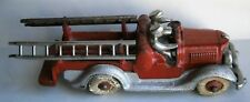 Hubley Cast Iron Fire Ladder Truck from the early 1900's with Original Parts