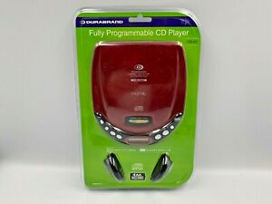 NEW & SEALED DURABRAND CD-50 Personal CD Player Fully Programmable Red