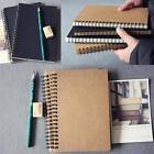 Retro Spiral Bound Coil Sketch Book Blank Notebook Kraft Sketching Paper 2Size