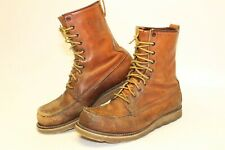 Red Wing Irish Setter Mens 9 D Vintage Leather Lace USA Made Work Boots 877