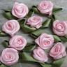 BABY PINK Rosebuds Roses Wedding Card Embellishments Rose buds 25 100 500