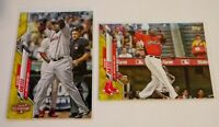 Lot of 2 - 2020 Topps Update David Ortiz Yellow Parallel Boston Red Sox U-124
