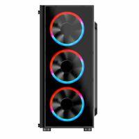 Cronus Metis Mid Tower Tempered Glass Side Window Panel Black Case RGB LED Fans