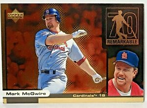 MARK MCGWIRE 1999 Upper Deck Ovation ReMarkable Moments #M8 St. Louis Cardinals