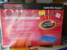 Cable/Dsl Broadband Router 4-Port 10/100 Mbps Switch - New In Box - Comp Usa