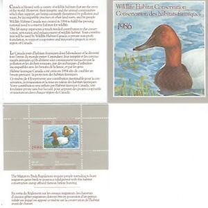 Kanada +Wildlife Habitat Conservation Stamp+ 1986 ** Postfrisch