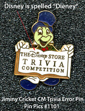 Jiminy Cricket Cm Trivia Pin (Error) - *Very Hard to Find* Pin Pics #1101