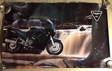 """VERY RARE VINTAGE TRIUMPH TROPHY 3 900  MOTORCYCLE POSTER 39""""X24"""""""