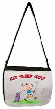 EAT SLEEP GOLF WOMEN'S MESSENGER BAG - Golfer Golfing Present Gift