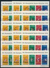 Briefmarken aus der BRD (1970-1979) mit Sonderstempel als Satz