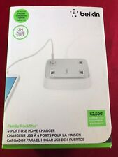 NEW Belkin 4-Port USB Home Charger 3M 10FT Cable Family Rockstar