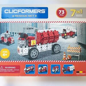 Clicformers NEW Rescue 73 Pieces Construction STEM Toy Set Age 4+ Toys for Kids