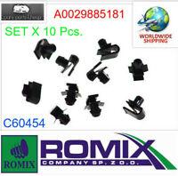 ROMIX Front Bumper Grille Fastener Retainer Clips x10pcs.   A0029885181