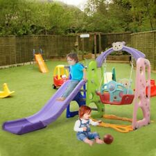 Toddler Climber And Slide Play Swing Set Kids In/Outdoor Combination Playground