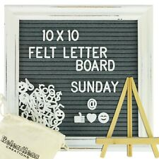 Relentless Creations 10 x 10 Vintage-Inspired Grey Felt Letter Board