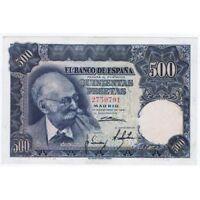 ESPAGNE ESPAGNE 500 PESETAS 1951 SANS SERIE 2750791 EBC+ SÉRIE 142 XF+