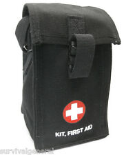 First Aid Pouch Bag Military G.I. Style Platoon 1st Kit Black Medic Canvas