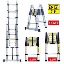 105ft 125ft 165ft Aluminum Multi Purpose Telescopic Ladder Extension Foldable