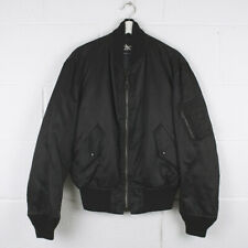 Vintage SCHOTT NYC Made In USA Black Nylon Bomber Jacket Size Mens Small /R41034