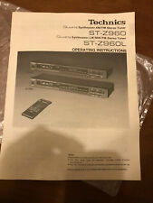 Technics ST-Z960/ST-Z960L Stereo Tuner Operating Instructions Manual Original
