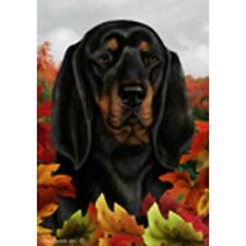 Fall Garden Flag - Black and Tan Coonhound 134021