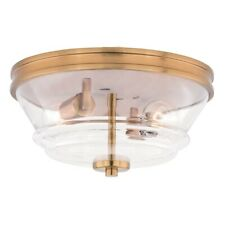 Vaxcel Toledo 13' Flush Mount, Natural Brass - C0149