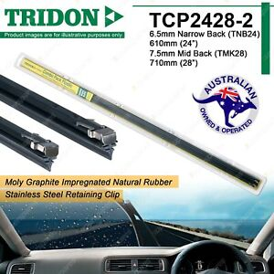 Combo Pair Tridon Plastic Back Wiper Refills for Toyota Avensis Celica Kluger