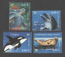 Faune marine (tortue,dauphin,orque,phoque) - N° 3485 à 3488 - 2002 - TB