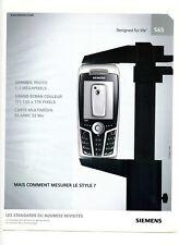 2004 / Siemens – Appareil de téléphonie S65 / publicity / advertising