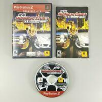 Midnight Club 3 Dub Edition Remix (Sony Playstation 2, PS2, 2006) Complete CIB