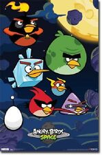 2012 ANGRY BIRDS SPACE CELL PHONE VIDEO GAME POSTER NEW 22x34 FREE SHIPPING